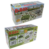 BMC WW2 D-Day Tank Battle - 36pc Plastic Army Men Playset