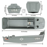 BMC WW2 Higgins Boat LCVP Landing Craft - 1:32 Vehicle for Plastic Army Men