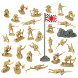 BMC WW2 Japanese Plastic Army Men - 30  Imperial Soldiers of Japan 1:32 Figures