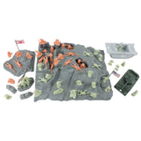 BMC WW2 Iwo Jima Plastic Army Men - Island, Tanks & Soldiers 60pc Playset