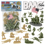 BMC WW2 Iwo Jima Plastic Army Men - 32 American and Japanese Soldier Figures