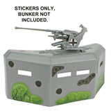 BMC WW2 Pillbox Bunker Sticker Sheets for 1:32 Accessory - Ships Free