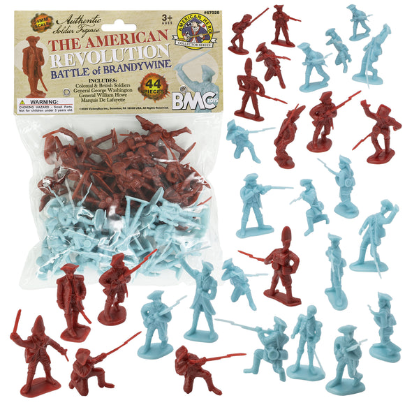 BMC Revolutionary War Battle of Brandywine - 44pc Plastic Army Men Soldier Figures