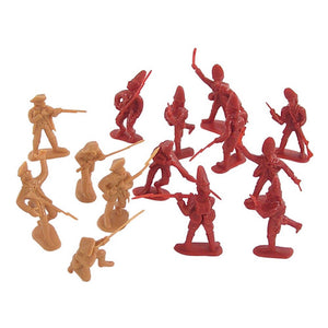 BMC Battle on Lexington Green Revolutionary War Plastic Army Men: 32 Piece Set of British and American Soldier 54mm Figures
