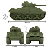 BMC WW2 Sherman M4 Tank - OD Green 1:32 Military Vehicle for Plastic Army Men