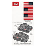 BMC WW2 Sherman Tank Sticker Sheets for 1:32 M4 Military Vehicle - Ships Free