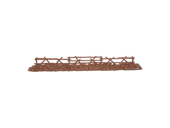 BMC Split Rail & Stone Fence: Barricade for 54mm Plastic Army Men Figures 1:32