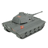 BMC WW2 German King Tiger Tank - Gray 1:32 Vehicle for Plastic Army Men