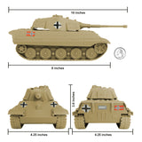 BMC WW2 German King Tiger Tank - Tan 1:32 Vehicle for Plastic Army Men