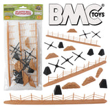 BMC WW2 Atlantic Wall Fortifications - 21pc Plastic Army Men Accessories