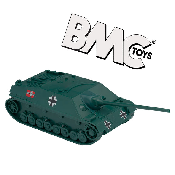BMC WW2 German Jagdpanzer IV Tank Destroyer - Forest Green 1:32 Plastic Army Men Vehicle