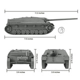 BMC WW2 German Jagdpanzer IV Tank Destroyer - Gray 1:32 Plastic Army Men Vehicle
