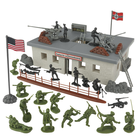 BMC WW2 Secret Stronghold - 36pc Plastic Army Men German Bunker Playset