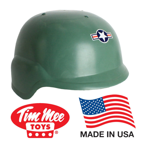 TimMee ARMY HELMET: Green Kid Size Adjustable Headband - Made in USA