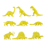 TimMee Plastic DINOSAUR Figures - Green & Yellow 48pc Dino Set MADE IN USA