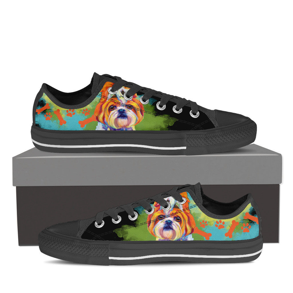 Shih Tzu Low Tops (Black)