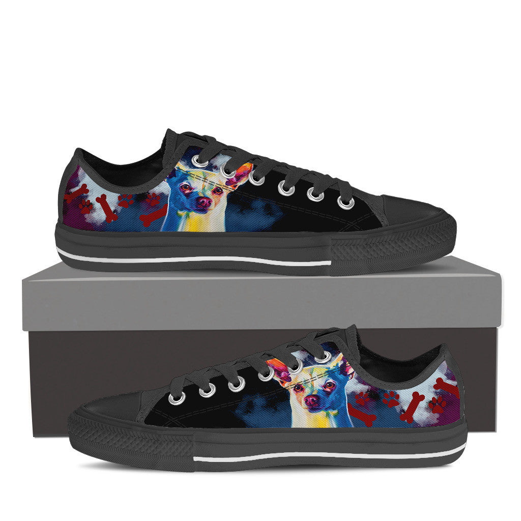 Chihuahua Low Tops (Black)