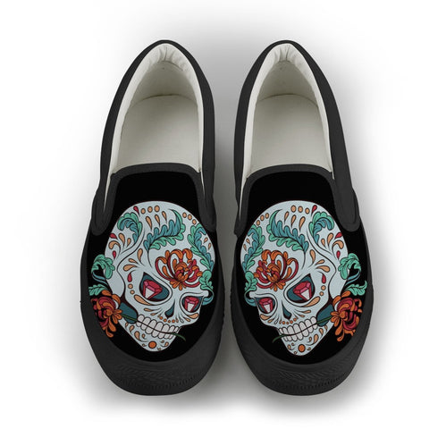 Casanova Skull Slip-On Shoes