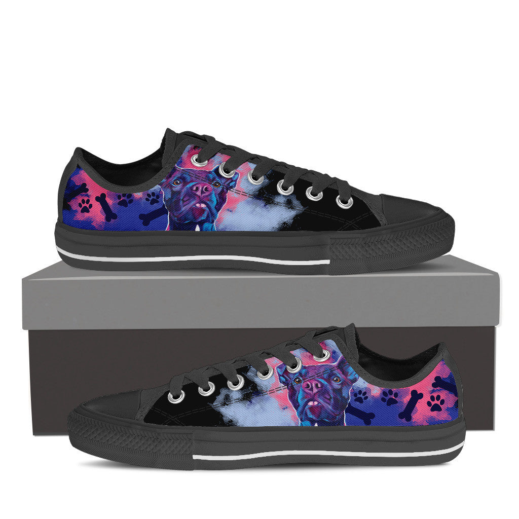 Pit Bull II Low Tops (Black)
