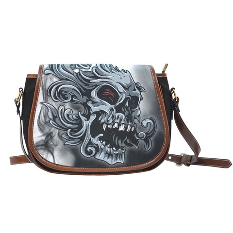 Smoked Skull Saddle Bag