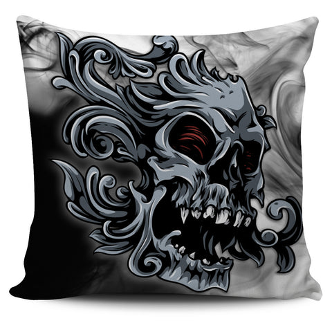 Smoked Skull Pillow Cover