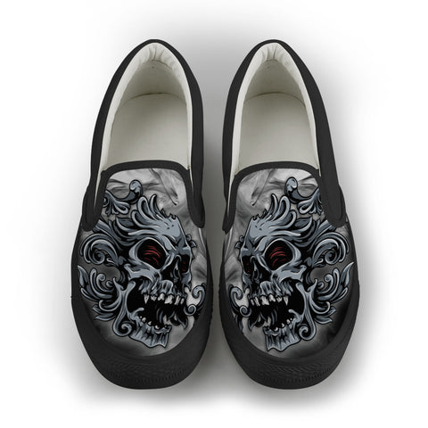 Smoked Skull Slip-On Shoes