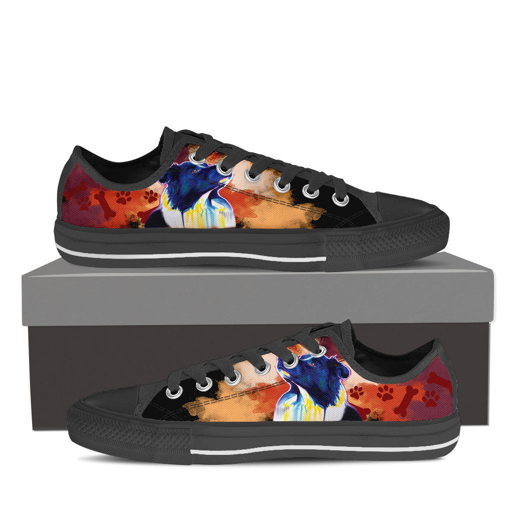 Border Collie Low Tops (Black)