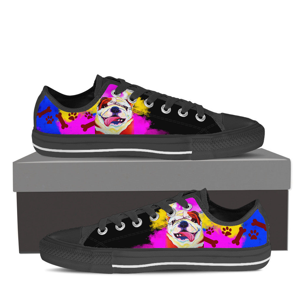 Bulldog Low Tops (Black)