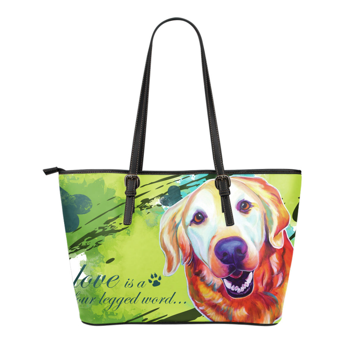 Golden Retriever Leather Totes (Small)