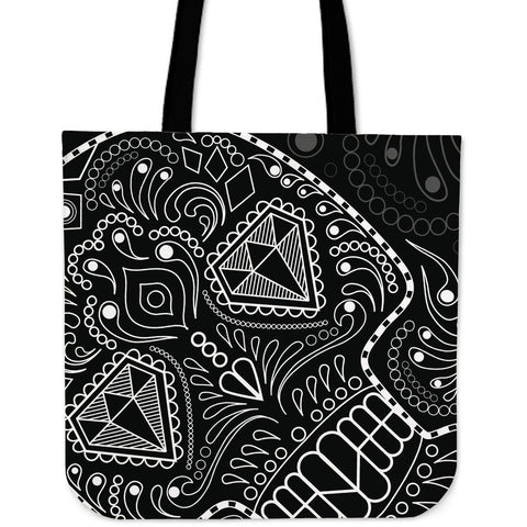 Black and White Skull Series Linen Totes
