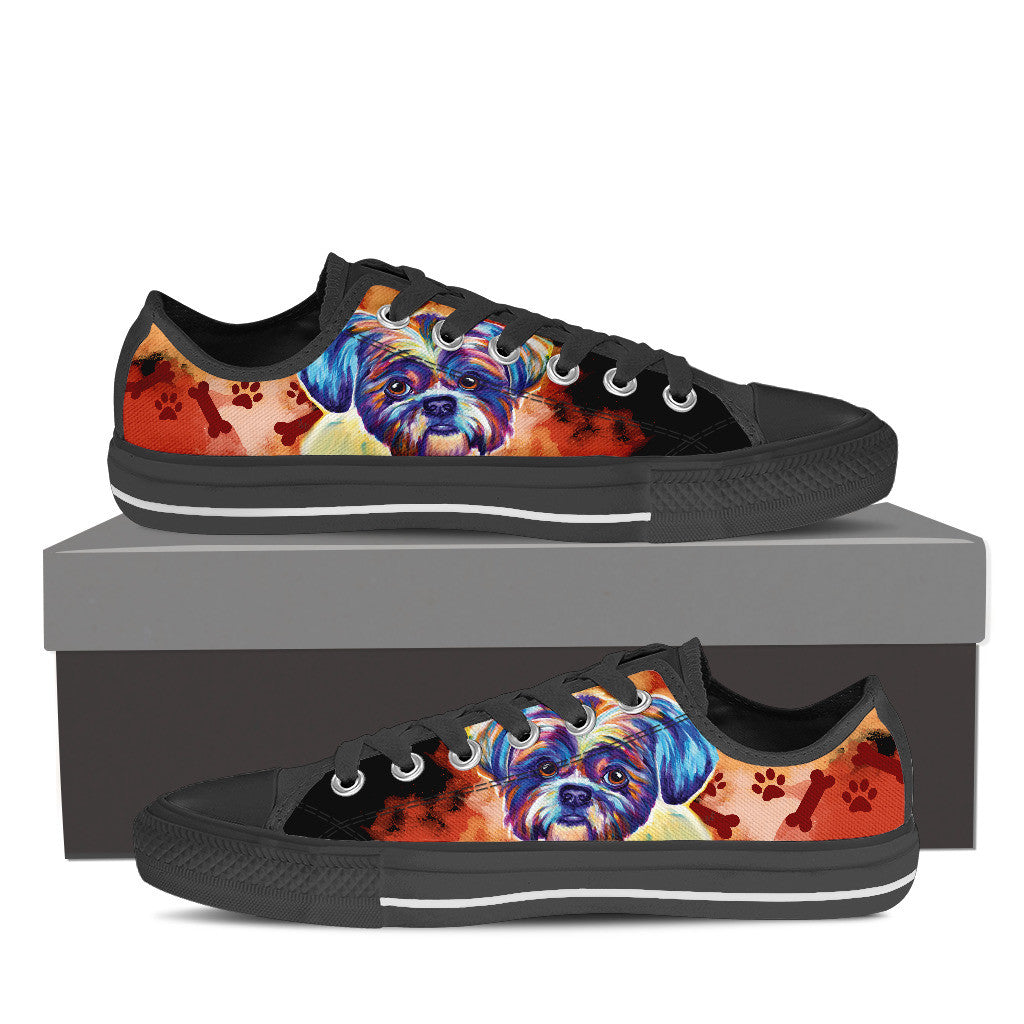 Shih Tzu II Low Tops (Black)
