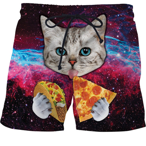 Taco Cat Swim Trunks