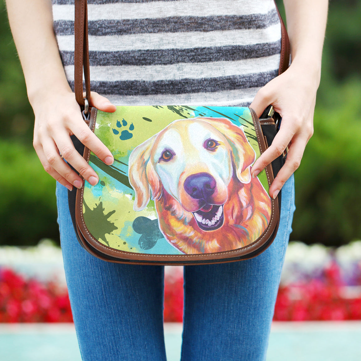 Golden Retriever Saddle Bag