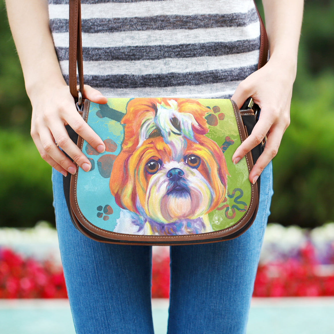 Shih Tzu Saddle Bag