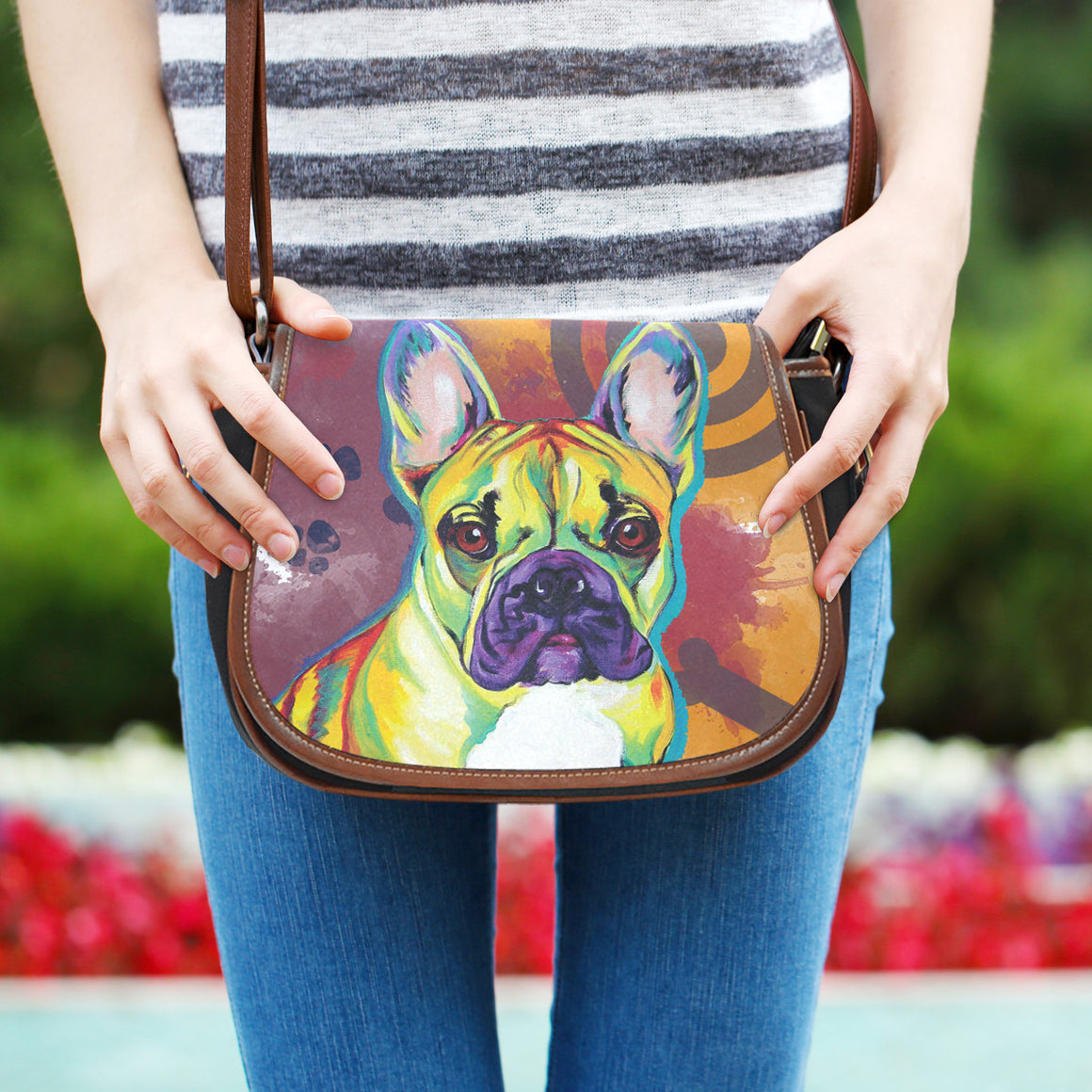 French Bulldog Saddle Bag