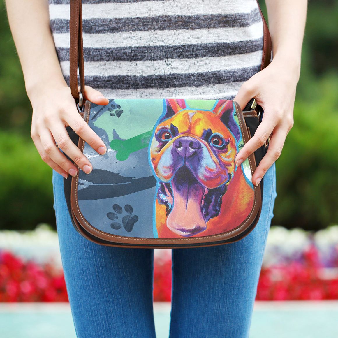 French Bulldog II Saddle Bag