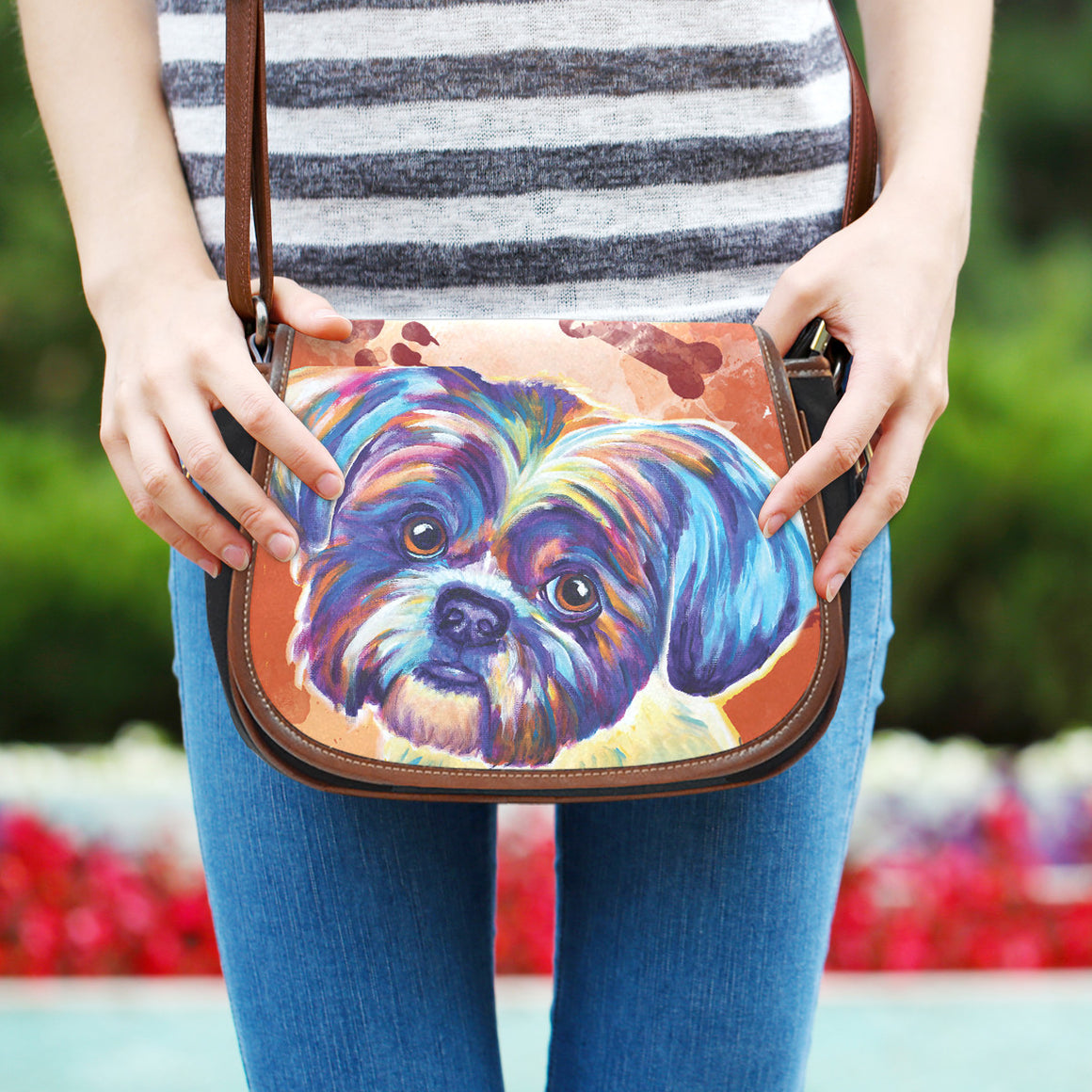 Shih Tzu II Saddle Bag
