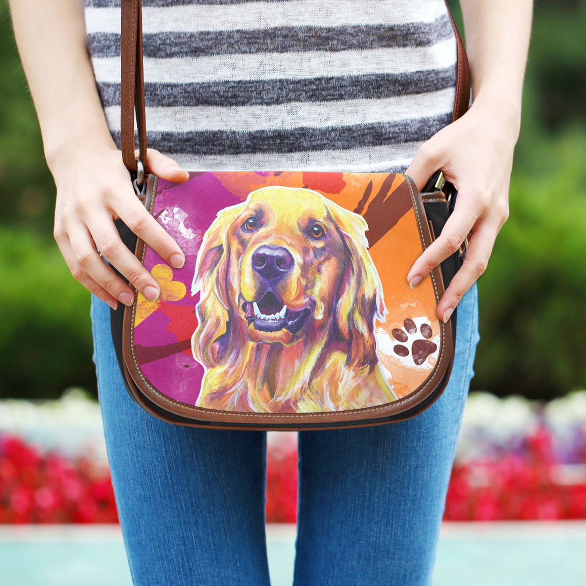 Golden Retriever II Saddle Bag