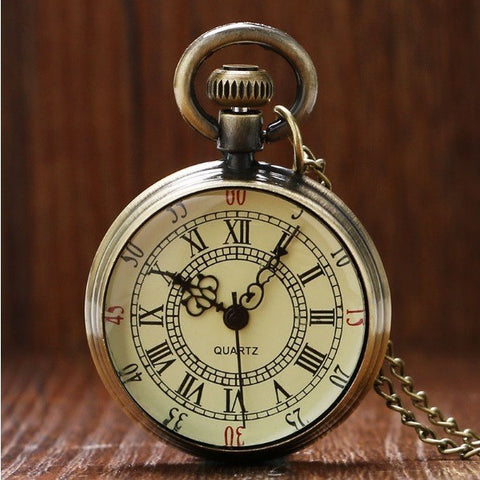 Antique Bronze Roman Pocket Watch - Teeternal - 1