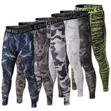Men's Compression Workout Pants (Grey Camo) - TEETERNAL - 3
