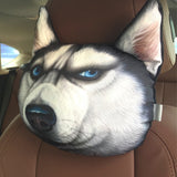 3D Printed Dog Face Car Headrest Pillows - Teeternal - 2