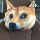 3D Printed Dog Face Car Headrest Pillows - Teeternal - 3