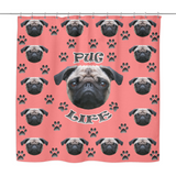 Pug Life Shower Curtain - Teeternal - 4