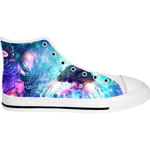 Cosmic Awaken High Top Canvas Shoes
