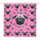 Pug Life Shower Curtain - Teeternal - 1