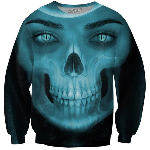 Skull Girl Crewneck Sweatshirt
