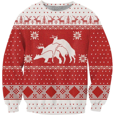 Merry Bucking Christmas Crewneck Sweatshirt