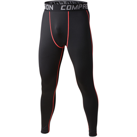 Men's Compression Workout Pants (Black) - TEETERNAL - 1