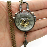 Glass Mechanical Pocket Watch | TEETERNAL - 3