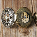Steampunk Poker Mechanical Pocket Watch | TEETERNAL - 4